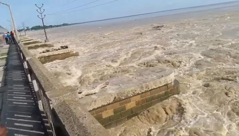 सप्तकोशीमा पानीको बहाव घट्दै, २८ वटा ढोका खुल्ला